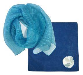 藍染めワークショップ「藍の生葉染め」